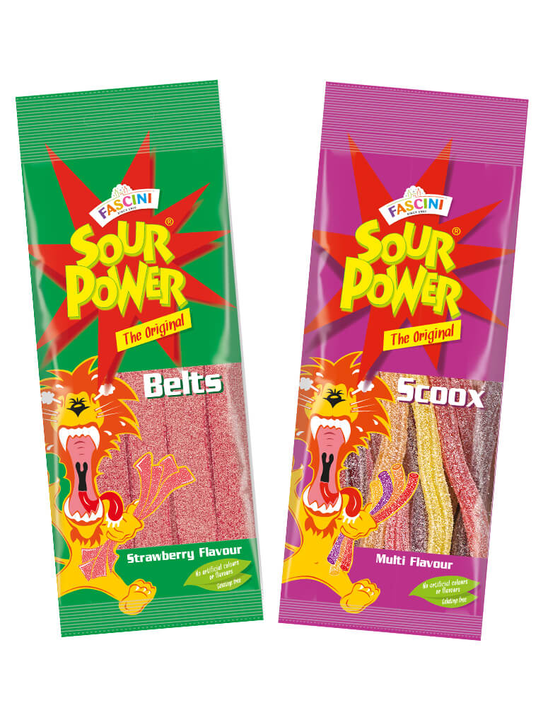 Sour power packaging